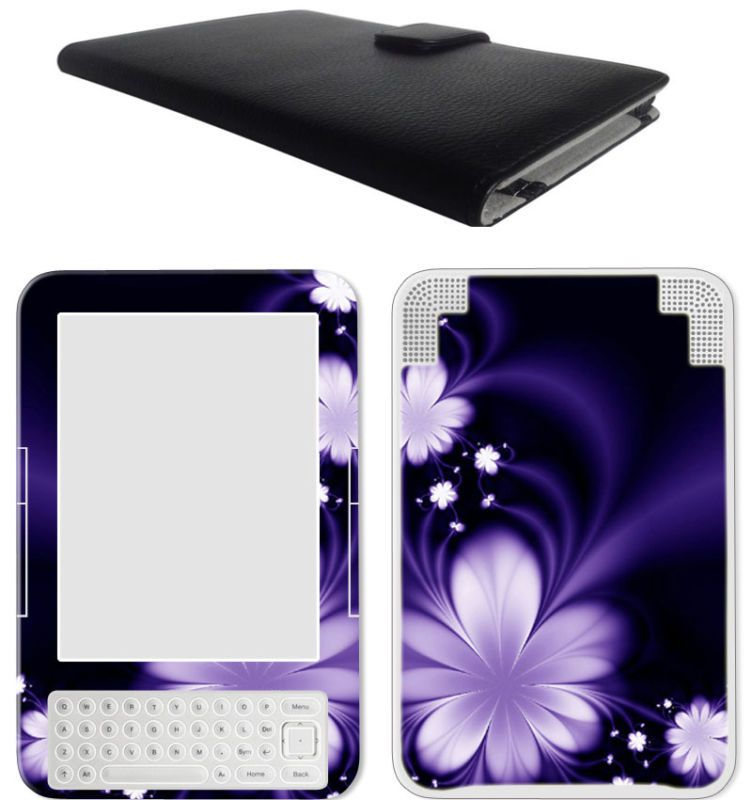 eBook Kindle 3 Kindle Keyboard Leather Case Cover Jacket Skin