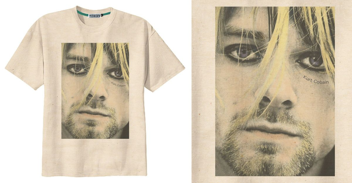 RETRO KURT COBAIN NIRVANA GRUNGE BAND ROCK T Shirt Tee Vintage Look