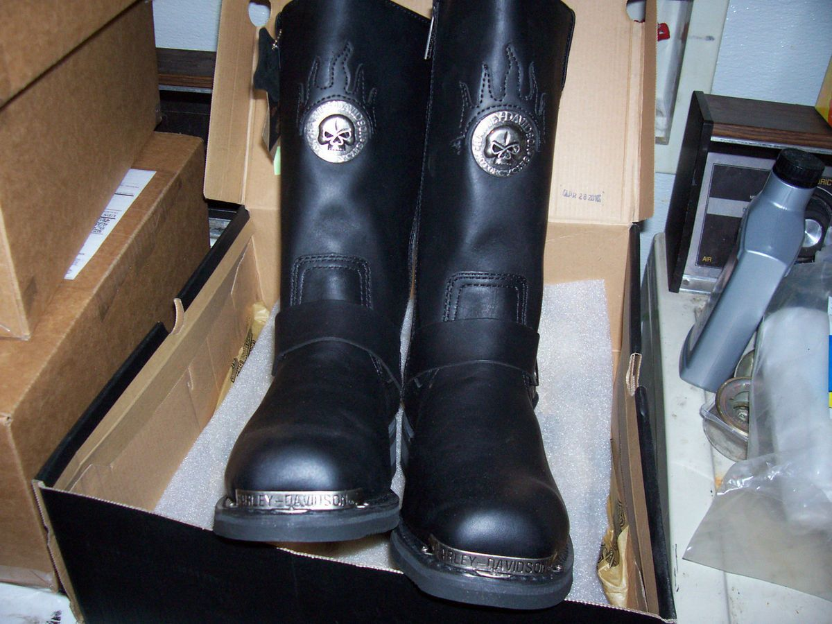 New Mens Harley Davidson Delinquent Harness Boots D91229 Size 10 M