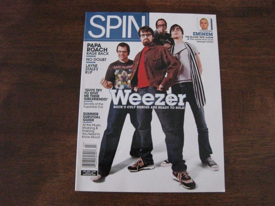 Magazine July 2002 Weezer Emimen Papa Roach No Doubt Layne Staley Rage