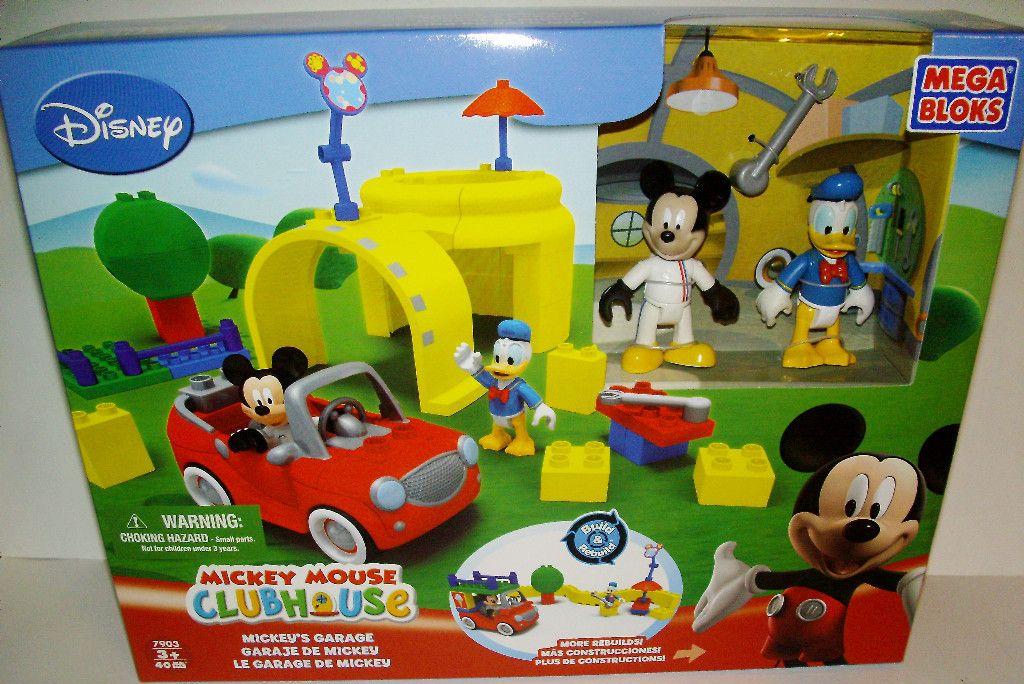 New ♥ Disney Mickey Mouse Clubhouse Mickeys Garage Mega Bloks Lego