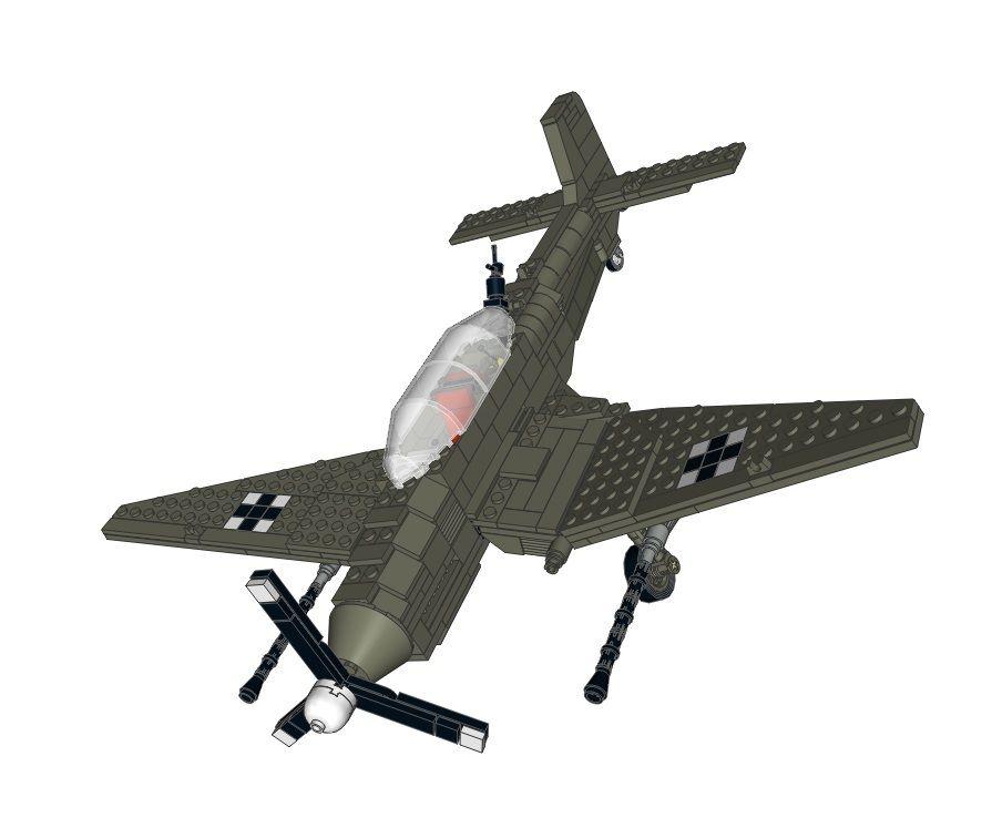 Как сделать из лего немецкий самолет