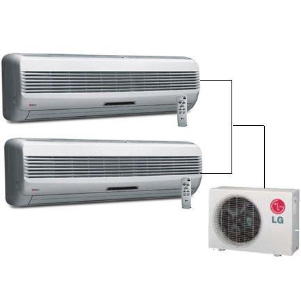 LG / GOLDSTAR MINI SPLIT AIR CONDITIONER 2400BTU WITH HEAT PUMP AND 2