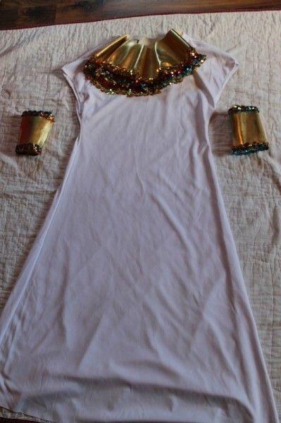 Lillian Vernon Egyptian Cleopatra Dress Up Halloween Costume Girls 12