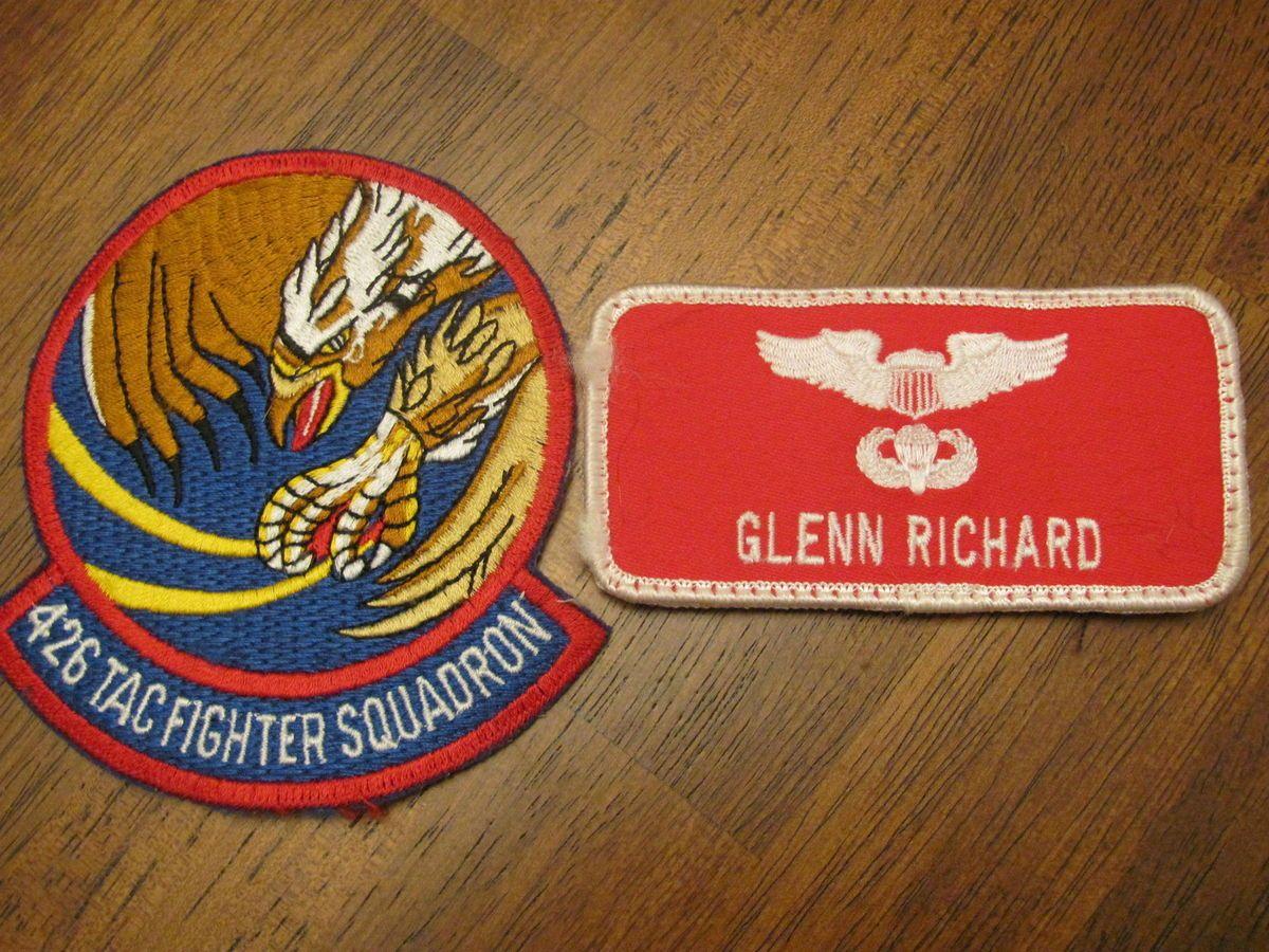 Lot 1980s Insignia and Pilot Nametag 426TFS Luke AFB AZ F 15
