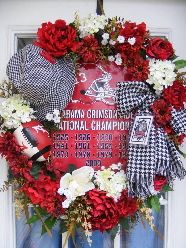Alabama Roll Tide Football Bear Bryant Crimson Wreath