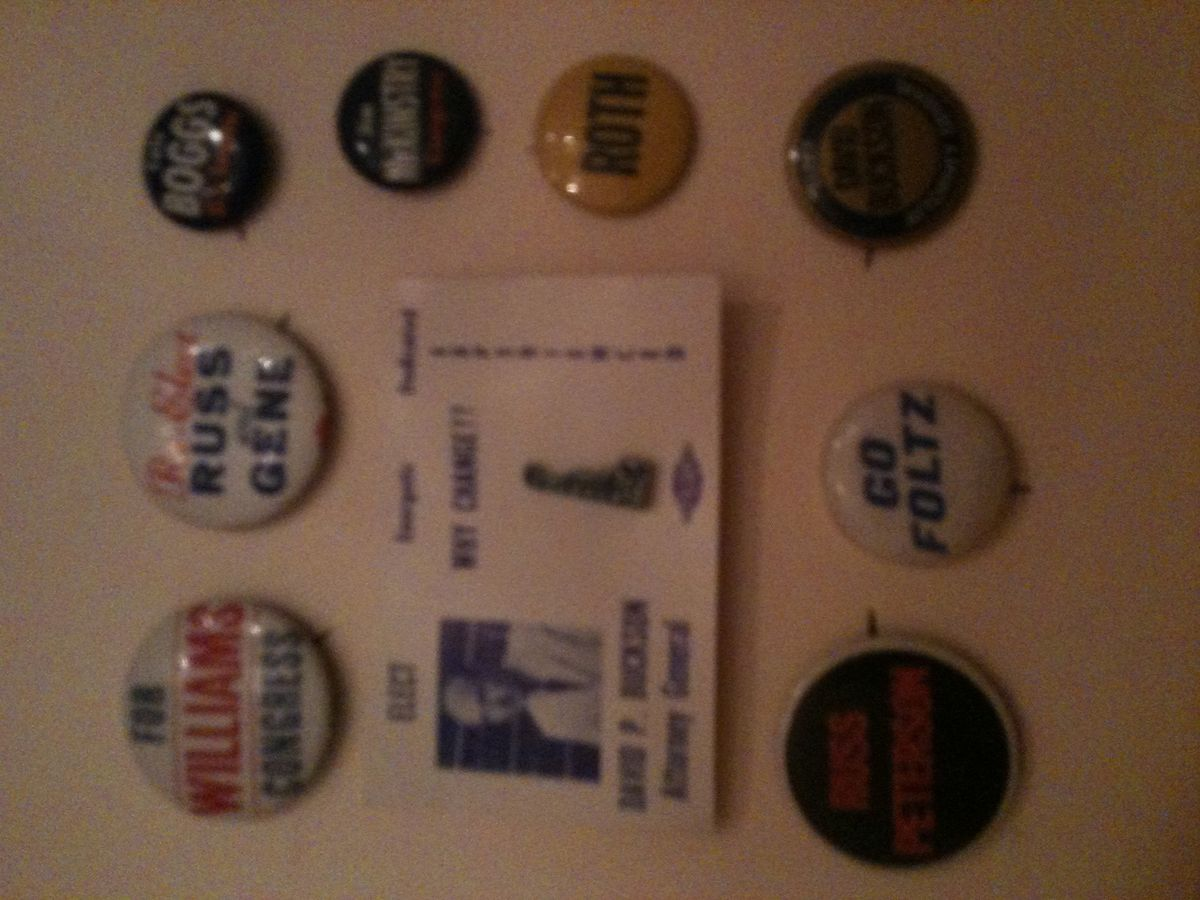 Vintage Delaware Campaign Buttons Pins Roth Petersen Republican GOP