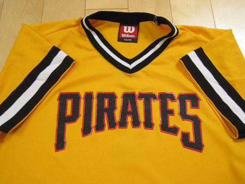 Super Vtg Pittsburgh Pirates Jersey Shirt MLB Baseball Small