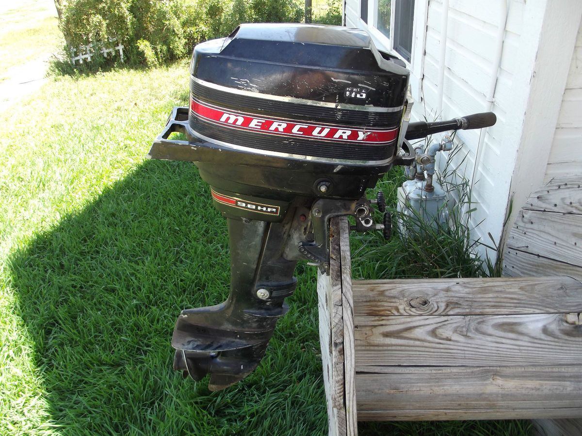 1969 mercury 110 9 8hp outboard boat motor engine for Mercury 9 hp outboard motor
