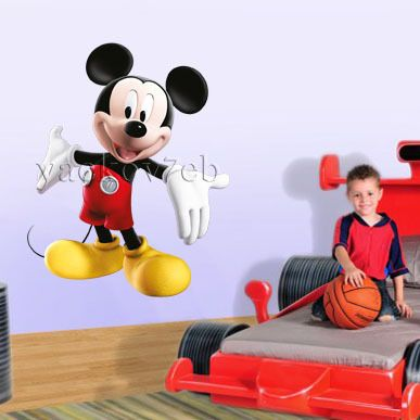 Huge Mickey Mouse Removable Disney Wall Sticker Decal Home Decor Art