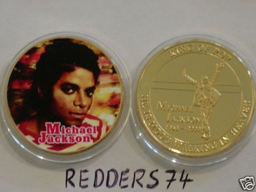 1958 2009 Michael Jackson Tribute Gold Proof Coin MJ1