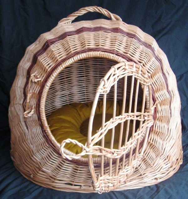 Carrier Dog Cat Rabbit Natural Pet Crate House Assorted Pillows
