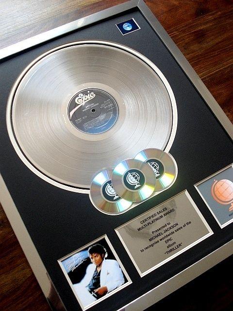 Michael Jackson Thriller Multi Platinum Disc Record Award Album