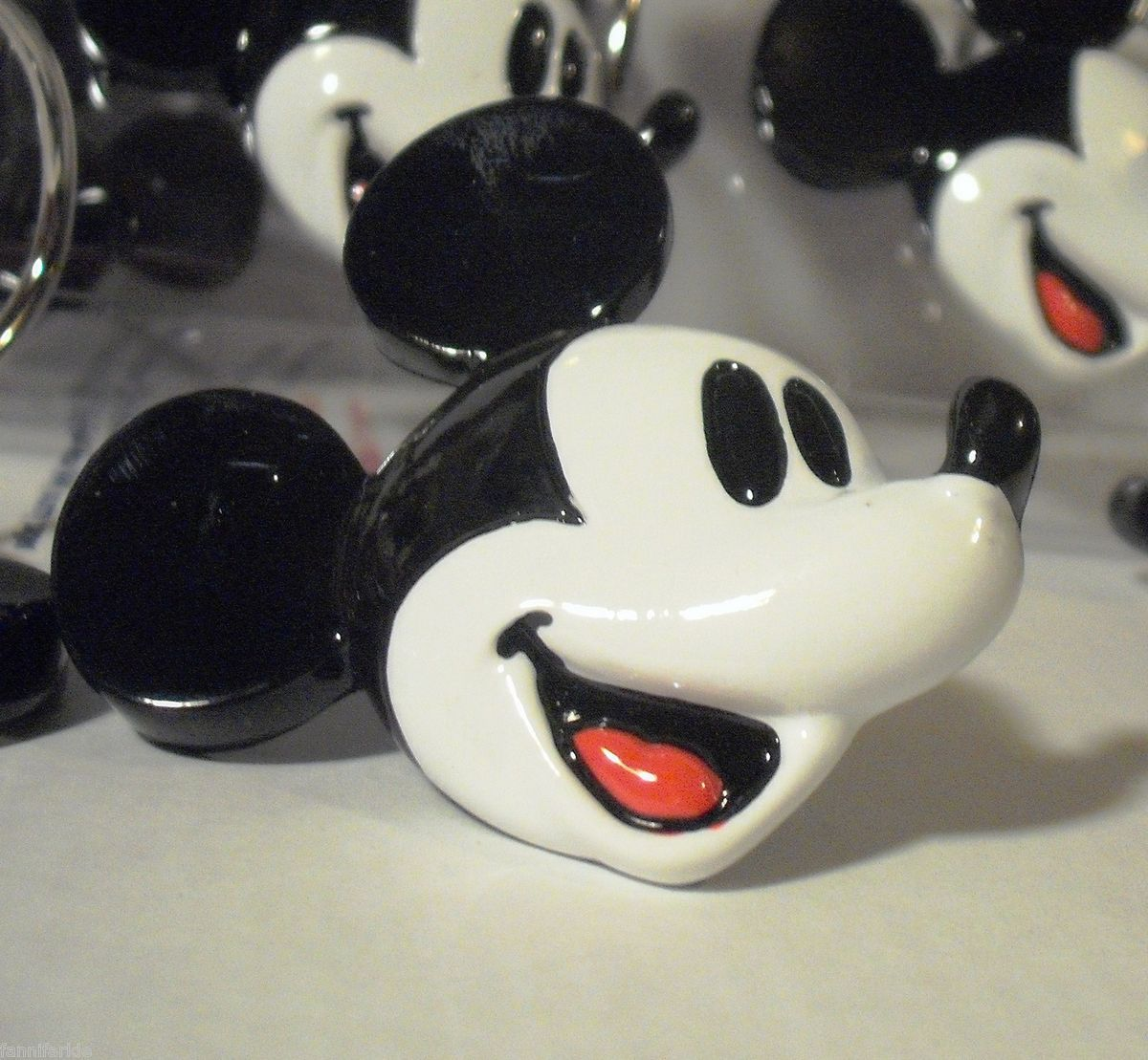 Mickey Mouse Shower Curtain Hooks Set Of 12 New