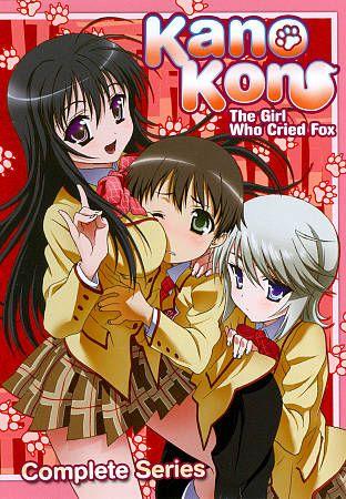 Kanokon The Girl Who Cried Fox   Complete Series DVD, 2011, 3 Disc Set