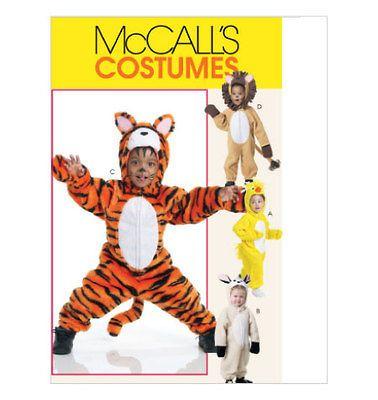 Tiger Lion Chicken Rabbit Bunny Toddler Costume Sewing Pattern M6181 1