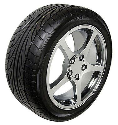 17 18 8.5/9.5 Chrome C5 Wheels Falken Tires Rims Fit Camaro Corvette