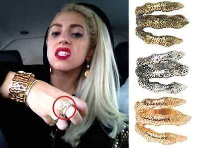 LADY GAGA Claw Paw Ring Antique Gold Silver