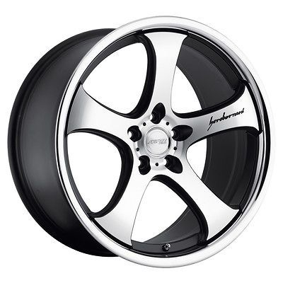 20 MRR CV2 Matte Black Chrome Wheels Rims Fit INFINITI G35 G37 COUPE