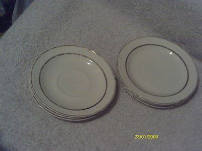 Semi Vitreous Edwin M. Knowles China Co. Plates Made in U.S.A. 42 4