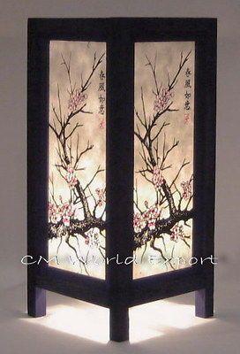 ASIAN ORIENTAL ROOM DECOR LAMP LIGHTING   CHERRY BLOSSOM TREE   SINCE