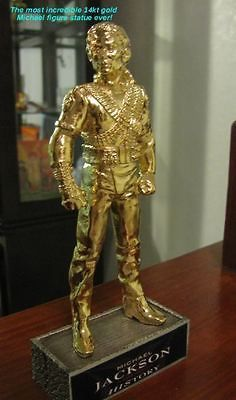 Jackson thriller doll Statue Figure History 14kt GOLD comic con Metal