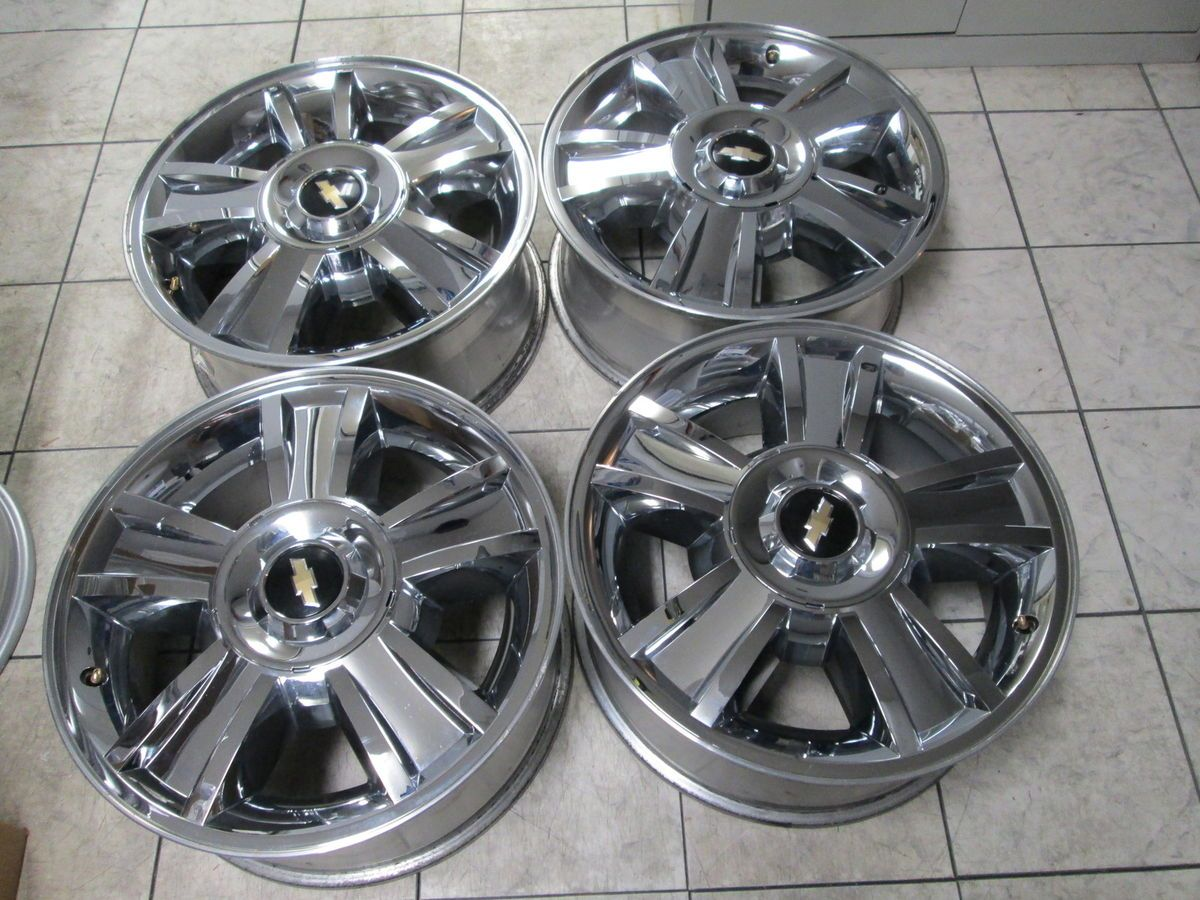 Chevy Silverado Tahoe Avalanch 1500 Factory Chrome Wheels Rims