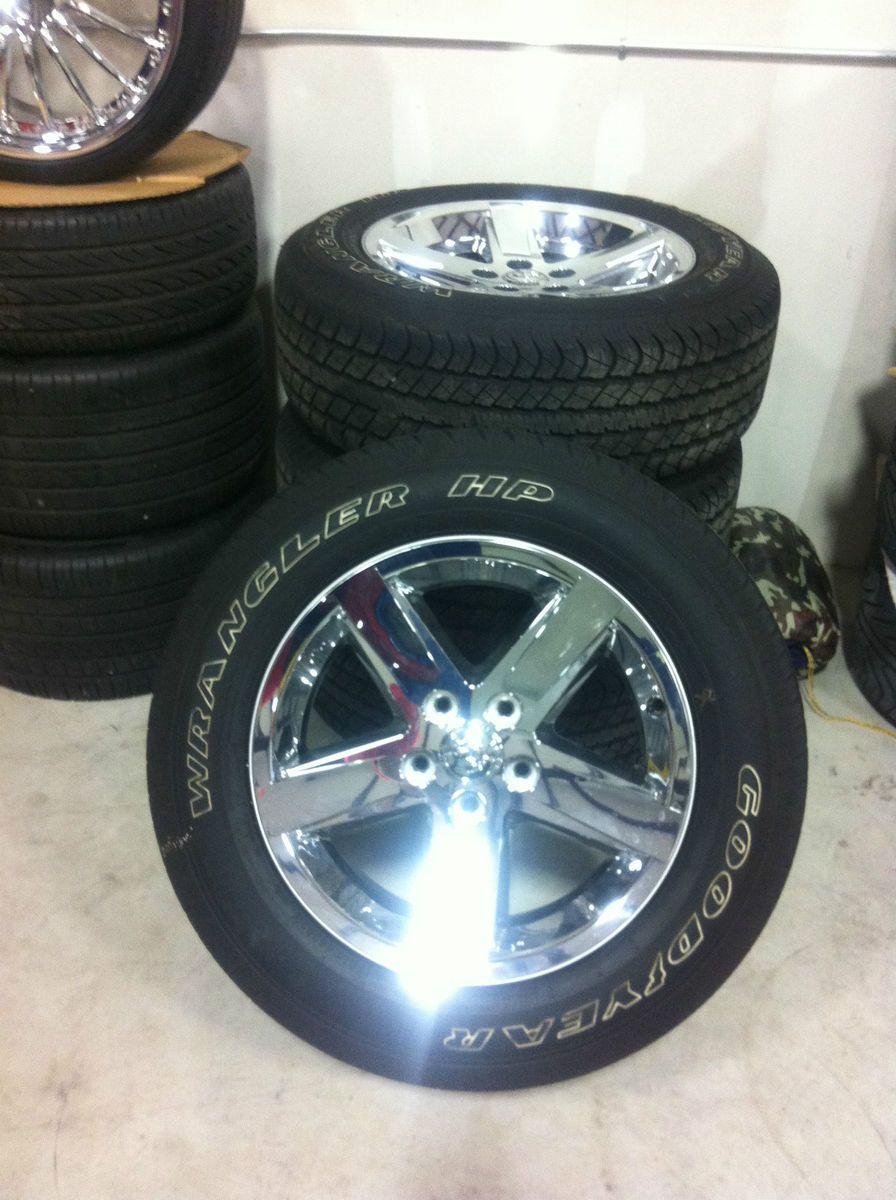 2010 20 Dodge RAM 1500 Durango Chrome Wheels Tires 275 60R20 20x9