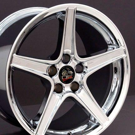 18 9 10 Chrome Saleen Wheels Rims Fit Mustang® 94 04