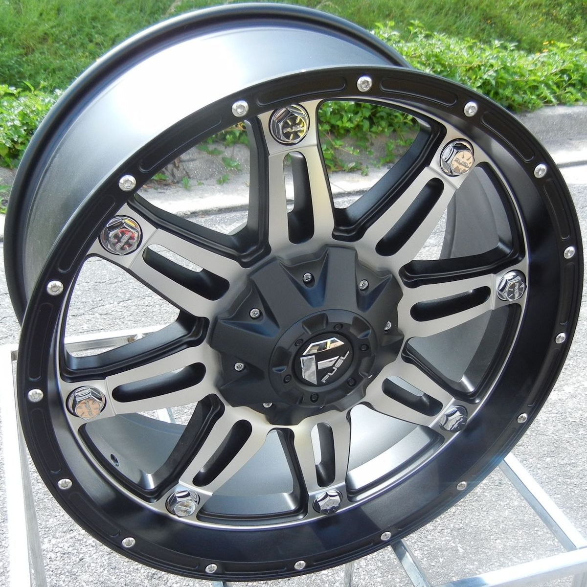 20 Black Machined Fuel Hostage Wheels Rims Chevy Silverado GMC Dodge