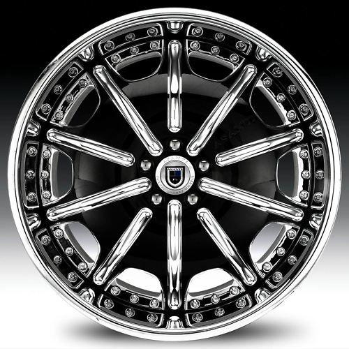 19 asanti AF204 Black Chrome Wheels Rims 2 Piece Tone