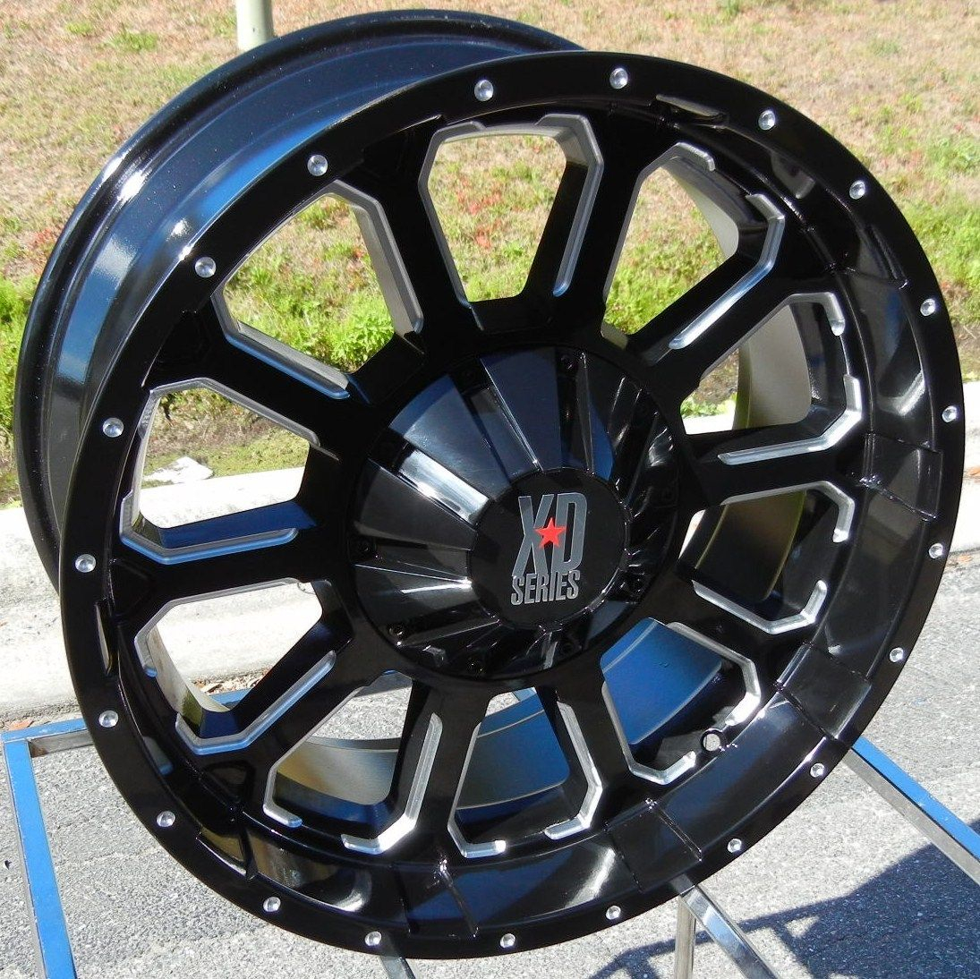 18x9 Black XD Bomb Wheels Rims GMC Sierra Chevy Silverado 2500 3500