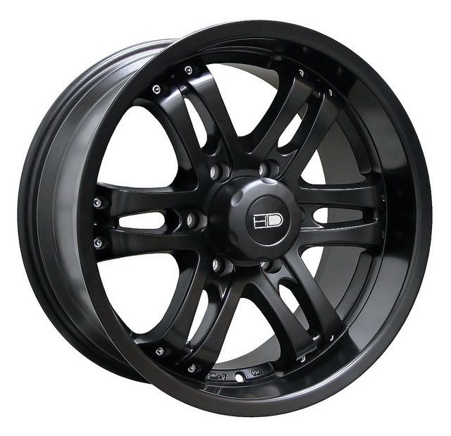 18x9 HD Tuning Satin Black Wheels Rims 6x135 25 Ford F150 Expedition