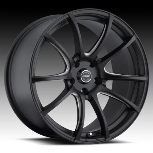 18 MRR LT1 Black Rims Wheels Tires Pontiac GTO Stagered