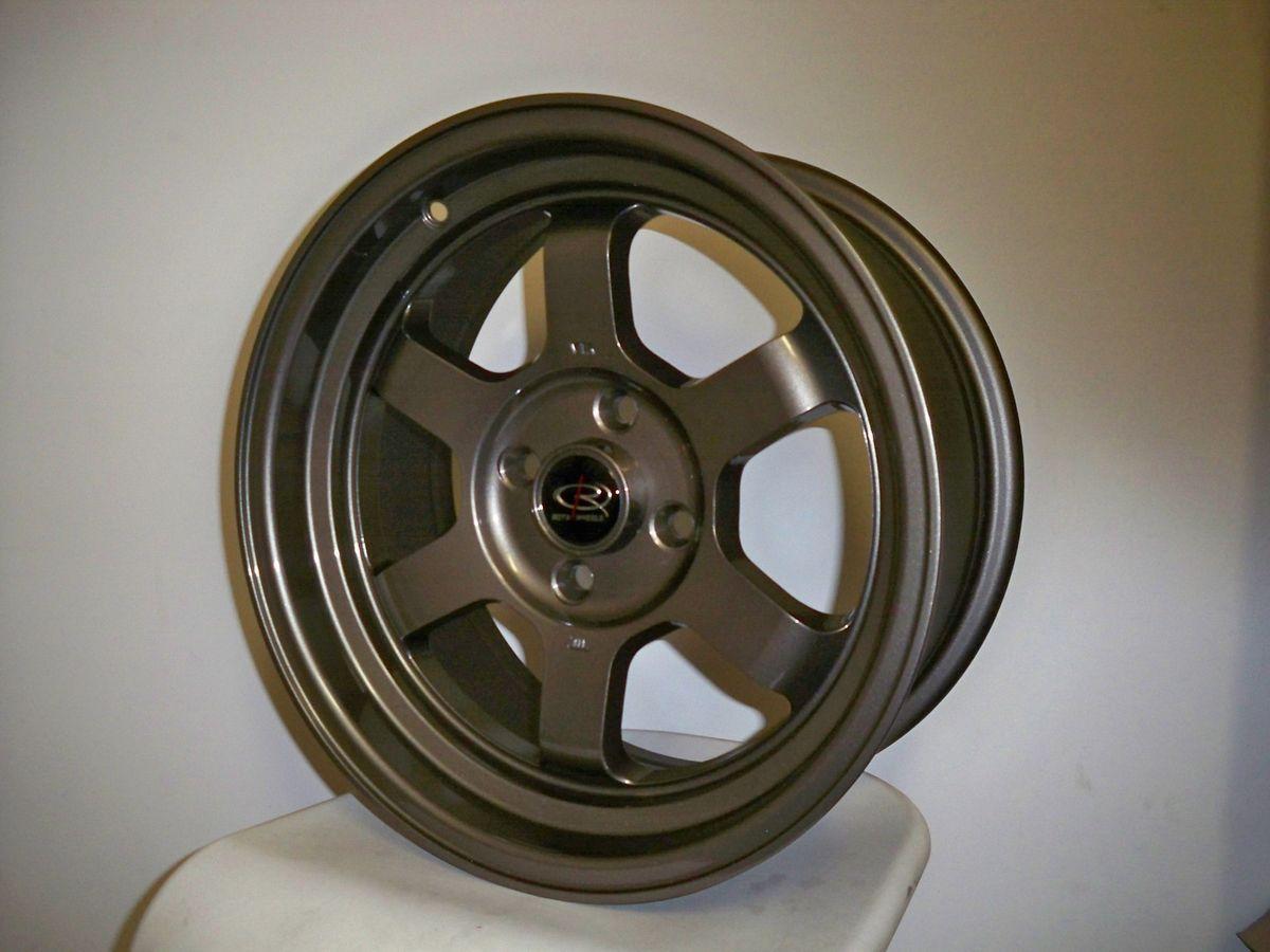 15 Rota Grid V Bronze Rims Wheels 15x7 20 4x100 Mazda Miata Scion XB