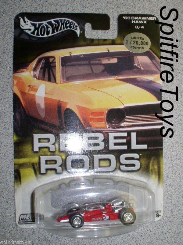 HOT WHEELS REBEL RODS MARIO ANDRETTI 1969 INDY 500 WINNER CAR 69