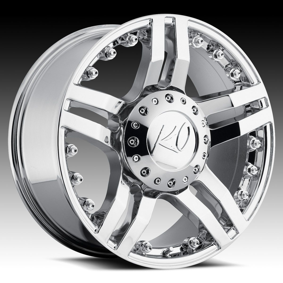 20 Chrome Rev Guillotine Wheels GMC Chevy Ford Truck SUV F 150