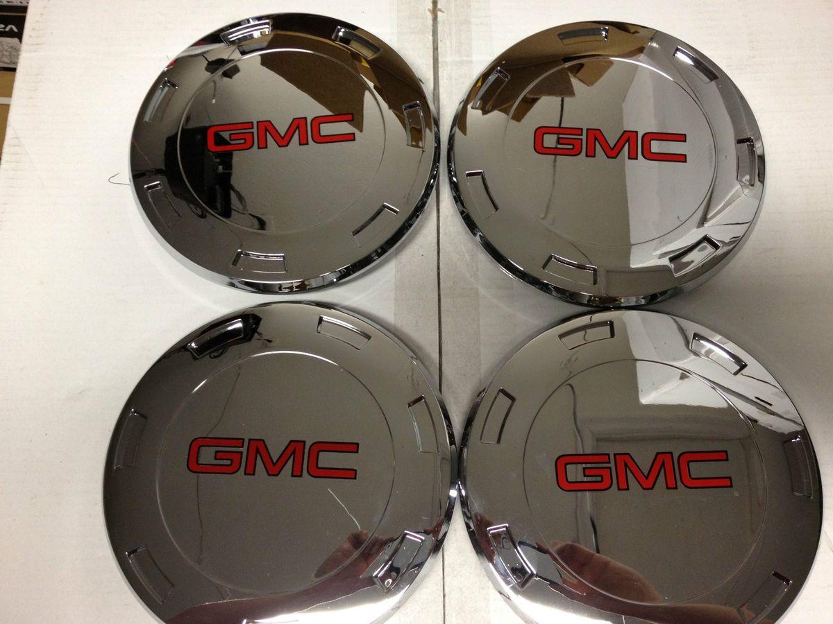 Escalade Chrome Center Caps Hub Covers 22 inch Wheels Rims GMC Yukon