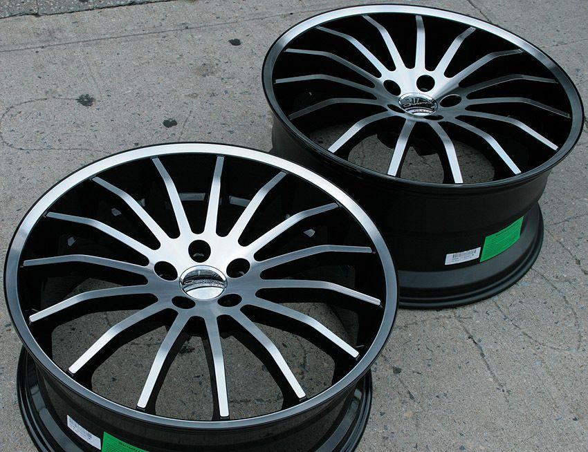 Giovanna Martuni 22 Black Rims Wheels x5 E53 5 Series