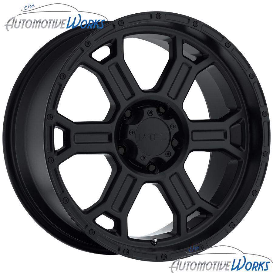 Tec Raptor 8x165 1 8x6 5 6mm Matte Black Wheels Rims inch 16