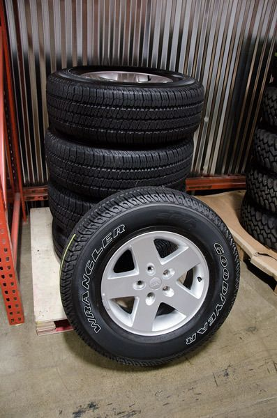 OE Jeep Wrangler JK Sport Wheels and Tires BRAND NEW under 50 miles