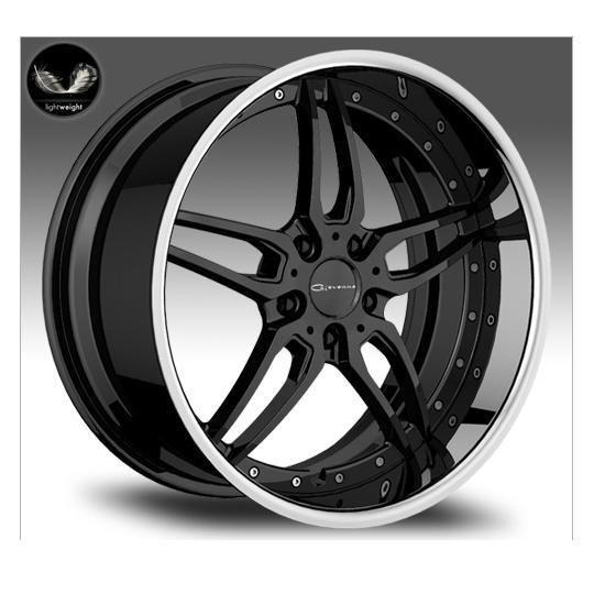 20 Giovanna Califive Black Rims Wheels 20x8 5 35 5x114 3 Camry Maxima