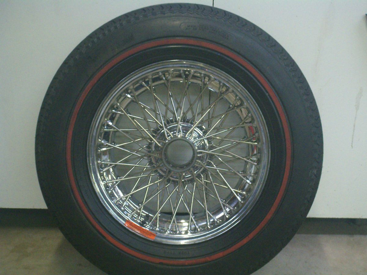 Chrome Wire Wheels Triumph TR Jag E Type AH 3000