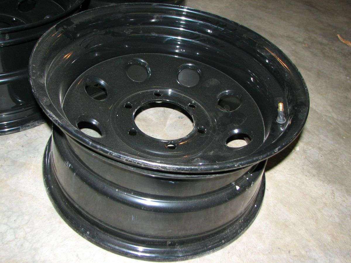 6x5 1 2 Bolt Circle Summit Racing Black Steel Wheels Set of 4