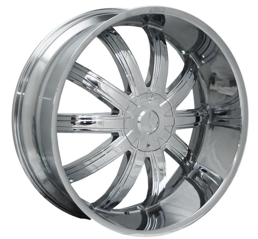 20 Chrome Wheels Rims Tires Package Effen 415 FWD 5x112