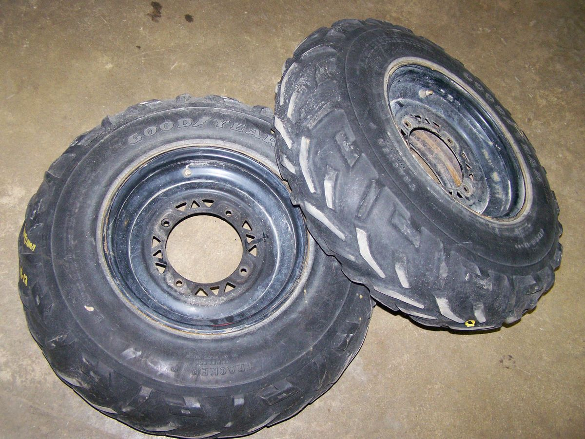 Xplorer 400 4x4 Magnum Black Front Rims Wheels Tires 94 95 96