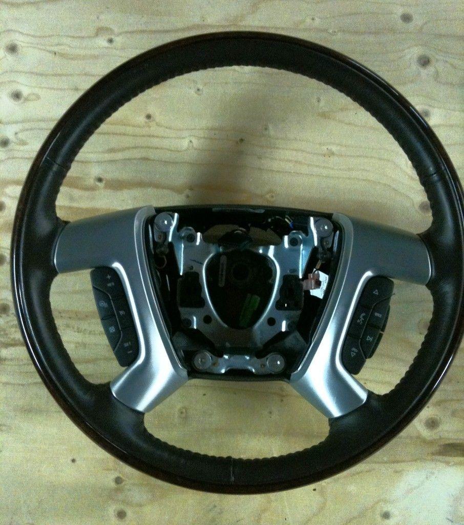 Cadillac Escalade Steering wheel, 2007 2012 w/wheel heater, ebony and