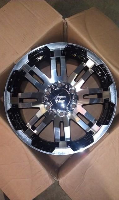 Vision Warrior 6x135 25mm Black Machined Wheels Rims inch 17