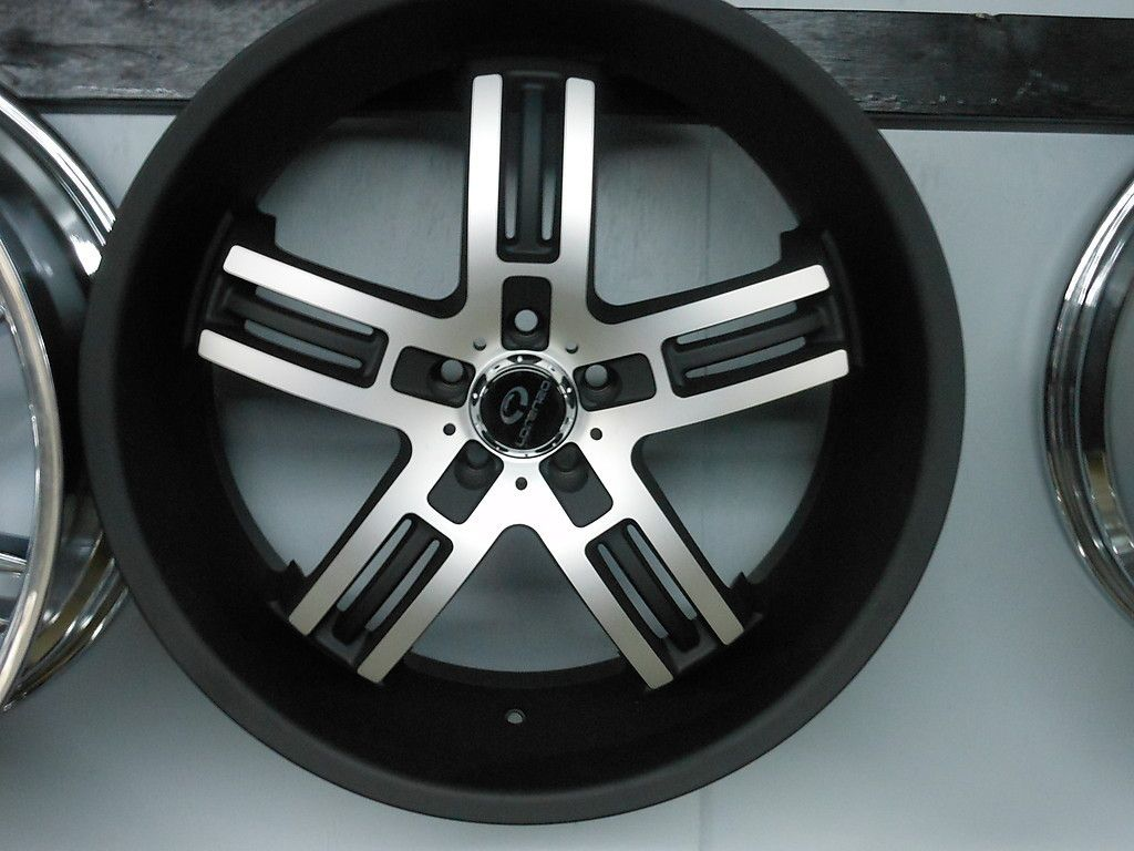 Lorenzo WL26 Staggered 5x112 Matte Black Wheels Rims New