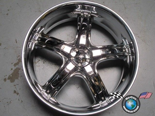 Suburban Tahoe Silverado 22 Boss 333 Chrome Wheels Rims Tundra